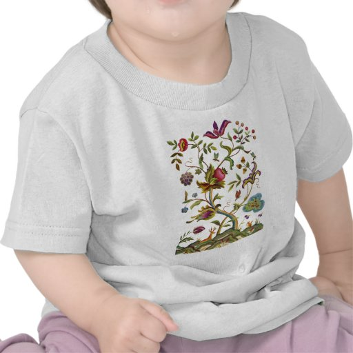 Tree of Life Jacobean Embroidery T Shirt