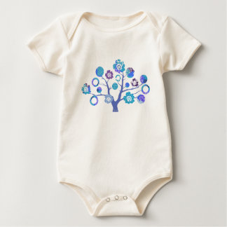 Tree of Life Japanese inspired design Baby Bodysuit