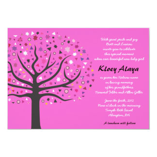 Tree of Life Jewish Baby Naming Invitation