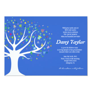 Tree of Life Jewish Baby Naming Invitation boy