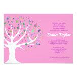 """Tree of Life Jewish Baby Naming Invitation Hebrew 5"""" X 7"""" Invitation Card"""