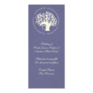 Tree of Life Jewish Wedding Ceremony Card Purple
