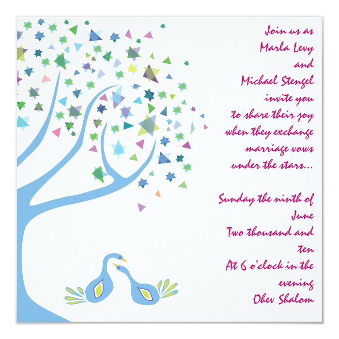 Tree Of Life Invitation Rsvp Celtic Life By: Tree Of Life Jewish Wedding Invitation Engagement