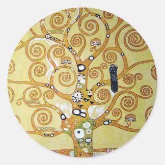 TREE OF LIFE - Klimt Classic Round Sticker