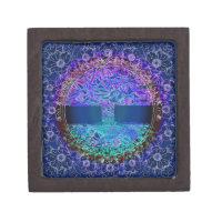 Tree of Life Knowingness is a electric  blue Jewelry Box