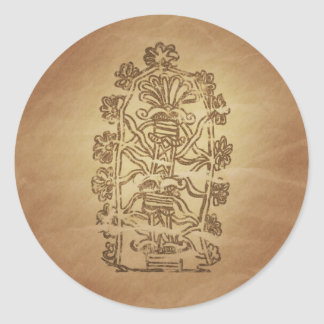 Tree of Life Knowledge Babylonian Magic Charms Classic Round Sticker