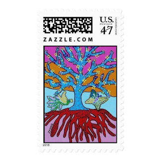Tree Of Life & Knowledge Stamp