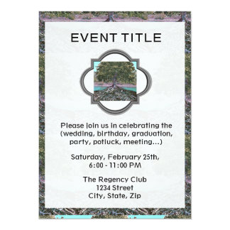 "Tree of Life Lakes Edge 5.5"" X 7.5"" Invitation Card"