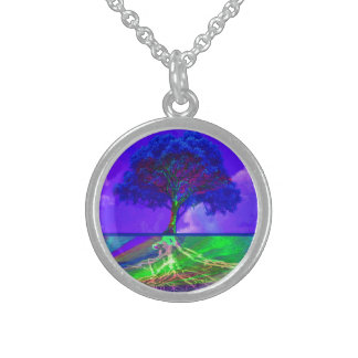 Tree of Life Live Your Dream Round Pendant Necklace