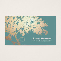 Tree Of Life Logo  Health And Wellness Business Card at Zazzle