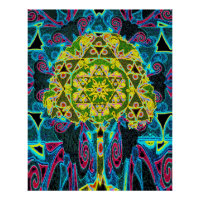 Tree of Life Mandala by Amelia Carrie Poster