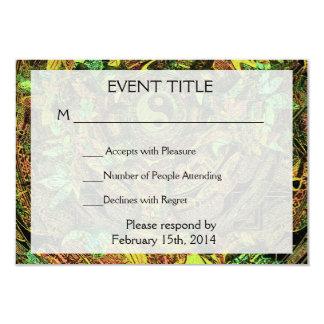 Tree of Life Mandala Dance 3.5x5 Paper Invitation Card