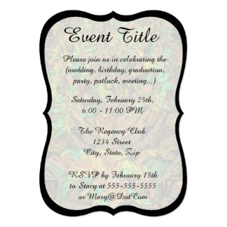 Tree of Life Mandala Dance 5x7 Paper Invitation Card