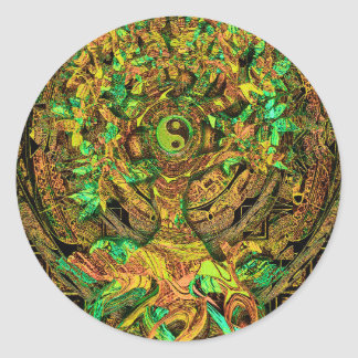 Tree of Life Mandala Dance Classic Round Sticker