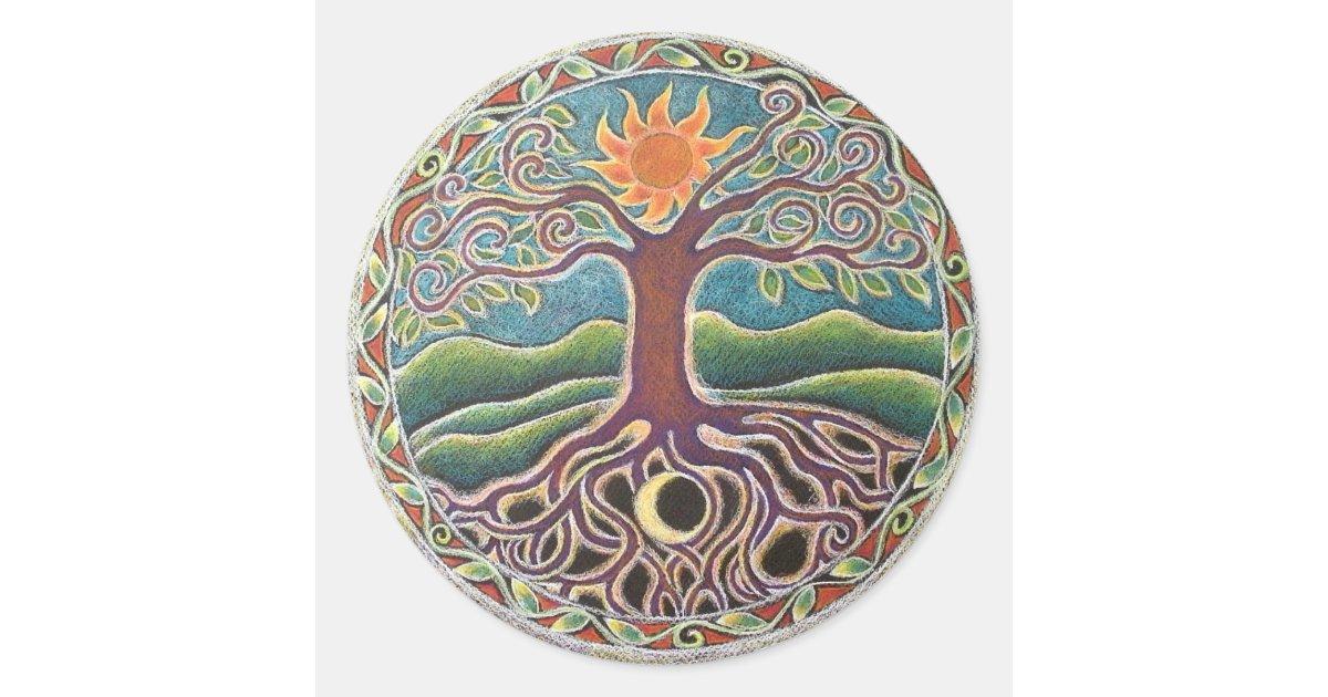 Tree Of Life Mandala Sticker Zazzle