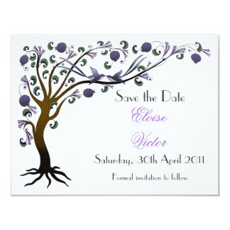 Tree of Life (mauve) - Save the Date Card