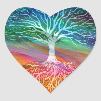 Tree of Life Meaning Heart Sticker