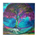 Tree of Life Meditation Ceramic Tile