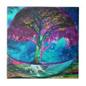 Tree of Life Meditation Ceramic Tile (<em>$13.70</em>)