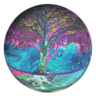 Tree of Life Meditation Dinner Plates