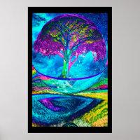 Tree of Life Meditation Poster