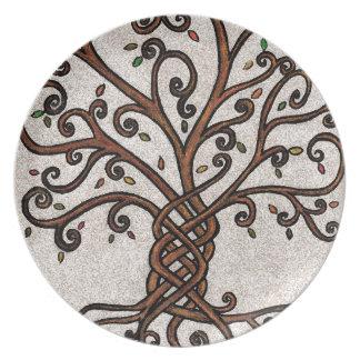 Tree of Life Melamine Plate