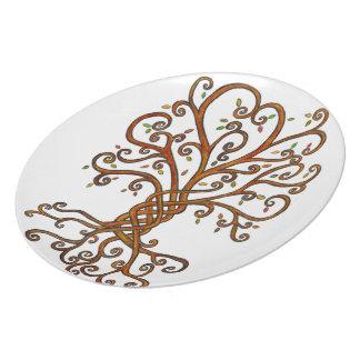 Tree of Life Melamine Plate white background