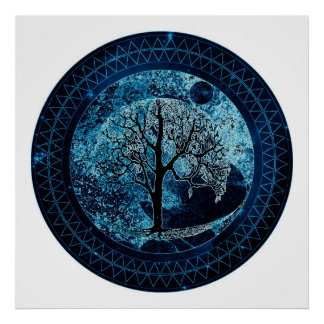 Tree of Life Midnight Sky Poster