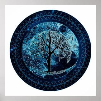 Tree of Life Midnight Sky Poster
