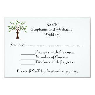 Tree of Life Modern Country Wedding RSVP Response Card