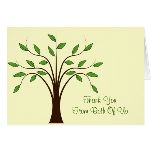 Tree Of Life Modern Wedding Thank You From Both Card
