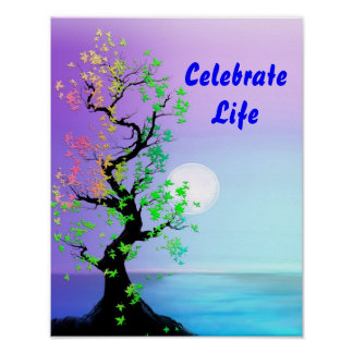 Tree of Life Moon Poster