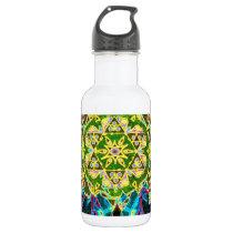Tree of Life Mosaic Pattern Water Bottle