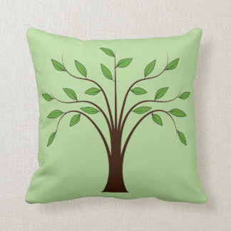 Tree of Life Nature Symbol Green or Custom Color Throw Pillow