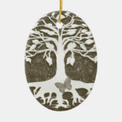 Tree of Life New Beginnings by Amelia Carrie Ceramic Ornament (<em>$13.70</em>)