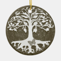 Tree of Life New Beginnings by Amelia Carrie Ceramic Ornament