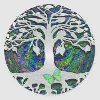 Tree of Life New Beginnings by Amelia Carrie Classic Round Sticker