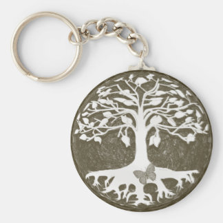 Tree of Life New Beginnings by Amelia Carrie Keychain