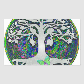 Tree of Life New Beginnings by Amelia Carrie Rectangular Sticker