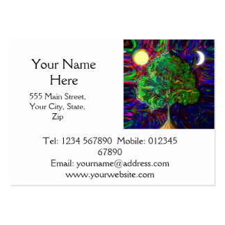 Tree of Life Night and Day Large Business Cards (Pack Of 100)