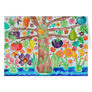 Tree of Life Note Card green