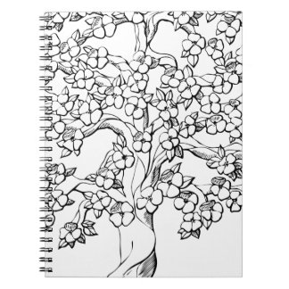 Tree of Life Spiral Note Book
