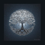 """Tree of Life Nova Blue Canvas Print<br><div class=""""desc"""">Tree of Life Nova Blue is a silvery looking tress of life with and exploding nova in the background.</div>"""
