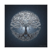 Tree of Life Nova Blue Canvas Print (<em>$176.35</em>)