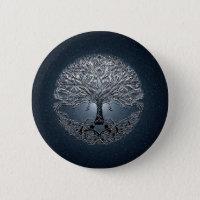 Tree of Life Nova Blue Pinback Button