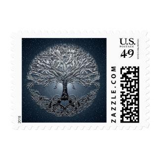 Tree of Life Nova Blue Postage Stamp