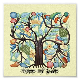 Tree of Life on Canvas Poster