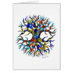 Tree of Life on White Card