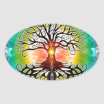 Tree Of Life Oval Stickers