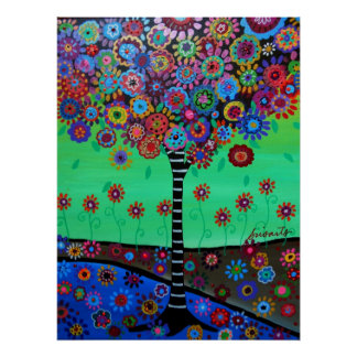 TREE OF LIFE PAINTING BY PRISARTS POSTER